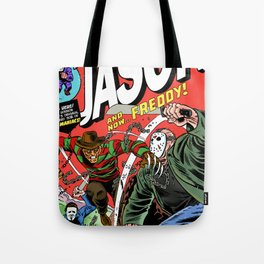 The Invincible Jason vs Freddy Tote Bag