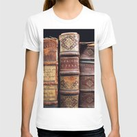 library T-shirts featuring Library by Mad Marys