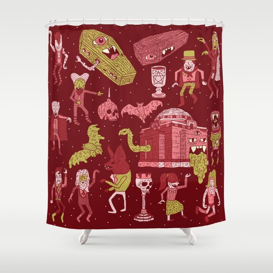 Wow! Vampires! Shower Curtain