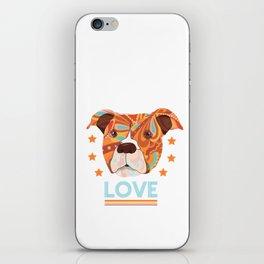 Pit bull love iPhone Skin