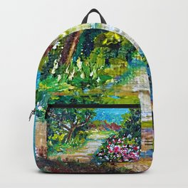Azalea Pathway Painting Backpack