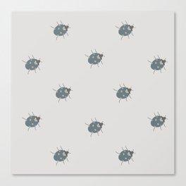 Ladybug (Aqua) Canvas Print