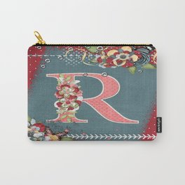 Country Charm Monogram Letter R Carry-All Pouch