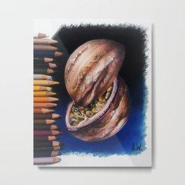 """""""Jupiter Passionfruit"""" Drawing Metal Print"""