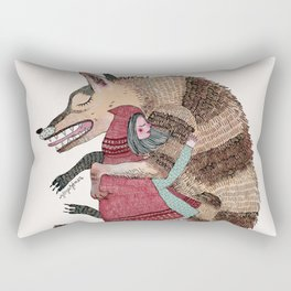 Caperucita y el lobo bueno Rectangular Pillow