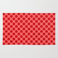 polka dot Area & Throw Rugs featuring Polka dot by David Zydd