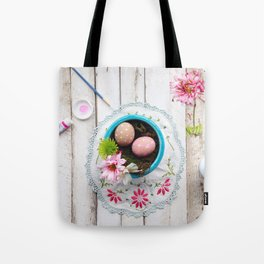 Painted Eggs  Tote Bag