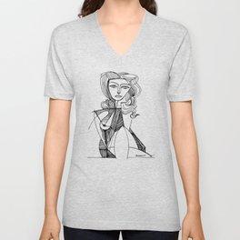 Pablo Picasso Portrait de Jacqueline Accoudee T Shirts, Art Unisex V-Neck