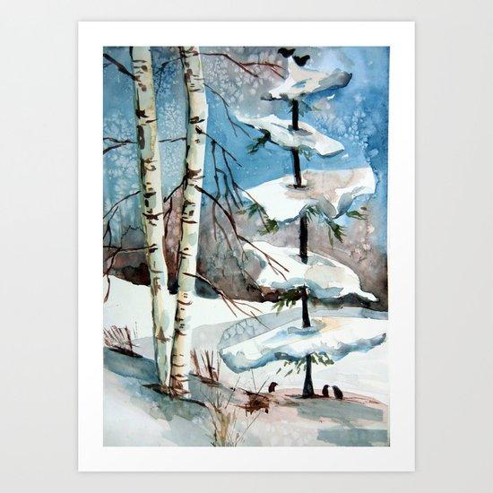 Carol of the Birds Art Print