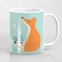 dreams Mugs featuring Winter Dreams by Andy Westface