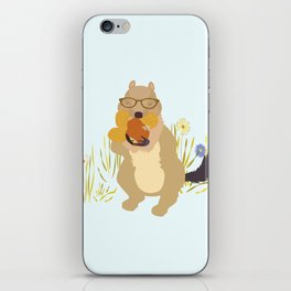Nut Crazy...- Modern, Quirky, Cute, Woodland Creature, Squirrel Illustration Print iPhone Skin