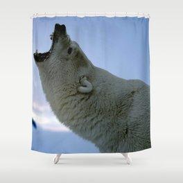 Gracious Scary Huge Grown Male Polar Ice Bear Huge Roaring Close Up Ultra HD Shower Curtain