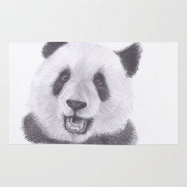 Panda Bear Drawing Rug