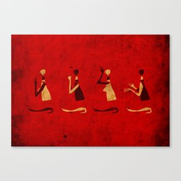 Forms of Prayer - Red Canvas Print
