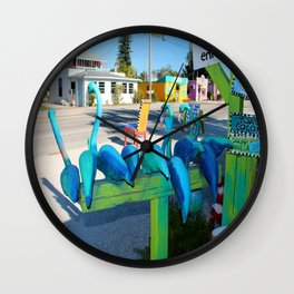 Mailing Flamingos Wall Clock