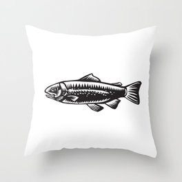 Sea Trout Spotted Throw Pillow