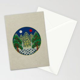Sun, Moon and 5 peaks: King's painting Type A (Minhwa-Korean traditional/folk art) Stationery Cards