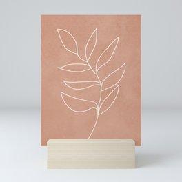 Engraved Leaf Line Mini Art Print