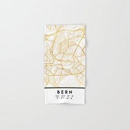 BERN SWITZERLAND CITY STREET MAP ART Hand & Bath Towel