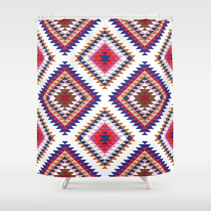 Aztec Rug Shower Curtain