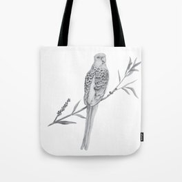 Rosella Graphite Illustration Tote Bag