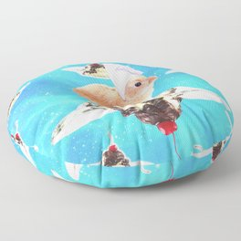 Chef Bunny Rabbit On Sundae In Space Floor Pillow