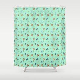 Foxy Nerd Pattern Shower Curtain