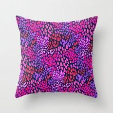 Purple dots Throw Pillow