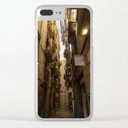Streets of Spain Clear iPhone Case