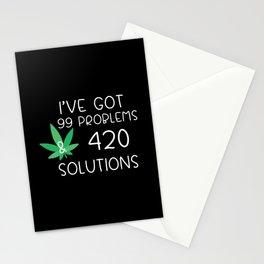 Drug 420 Marijuana Cannabis Weed Stoners Stationery Cards