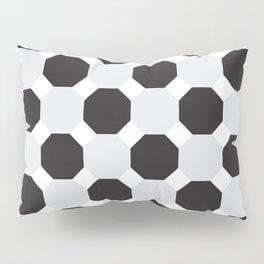 Black & Grey Hexagons Pillow Sham
