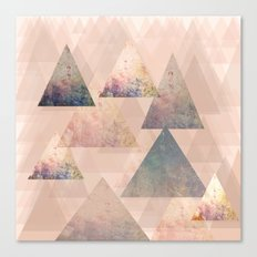 Pastel Abstract Textured Triangle Design Canvas Print