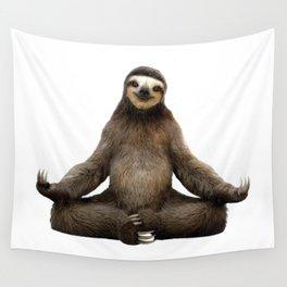 Sloth Yoga Art Print Wall Tapestry