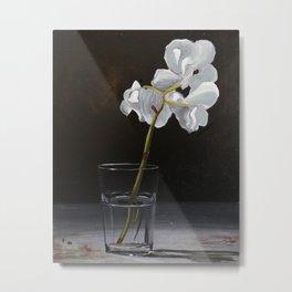 Orchid Water Metal Print