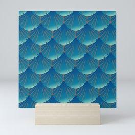 blue shells Mini Art Print