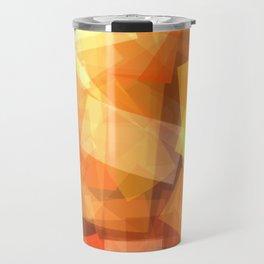 Orange rectangle coctail Travel Mug