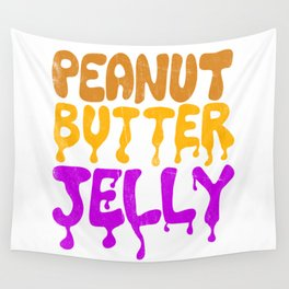 Peanut Butter Jelly Wall Tapestry