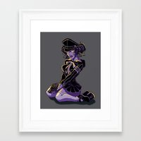 teagan white Framed Art Prints featuring Teagan by Michael T. Patrick