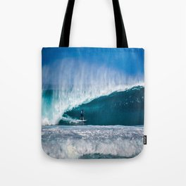 Surfing Pipe Tote Bag