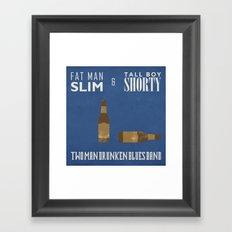 Fat Man Slim & Tall Boy Shorty Framed Art Print