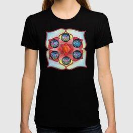 6 Language of Light Base Chakra Symbols T-shirt