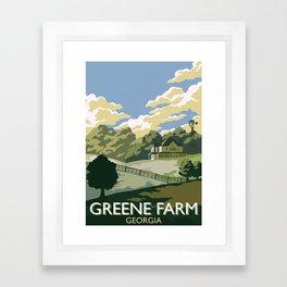 Greene Farm, GA / The Walking Dead Framed Art Print