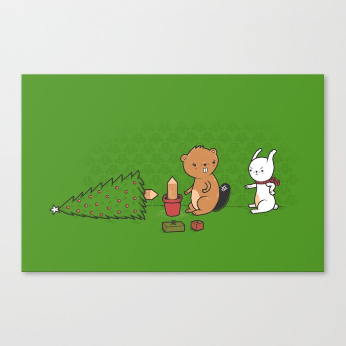 Beavers ruin Christmas Canvas Print