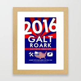 Elect John Galt and Howard Roark 2016  Framed Art Print