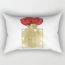 Red Roses & Fashion Perfume Bottle Rectangular Pillow
