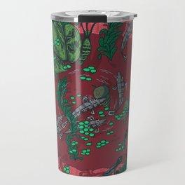 Red Bucket  Travel Mug
