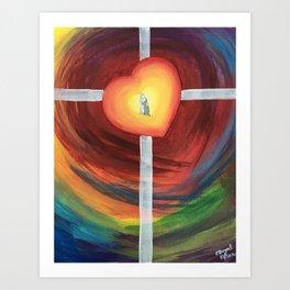 Jesus Hug Art Print