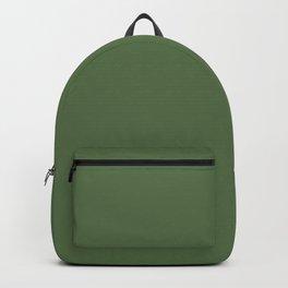 KALE green solid color  Backpack