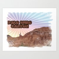 palo alto Art Prints featuring Retro Palo Duro Canyon by breeannd82