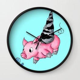 Orthoceras Piggy Wall Clock